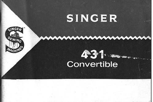 Singer 431 Manual