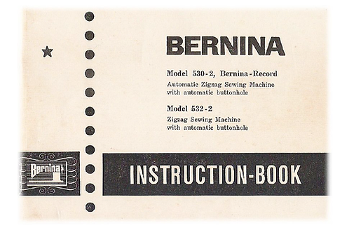Bernina Record 530-2 & 532-2 Manual