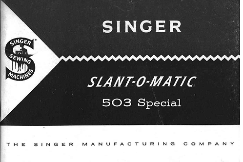 Singer 503 Sewing Machine Manual