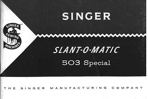 Singer 401 Manual