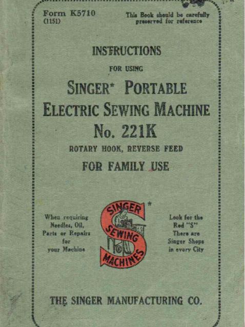 Singer 221K Manual