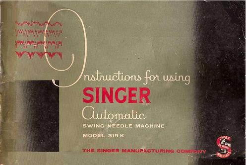 Singer 319K Manual