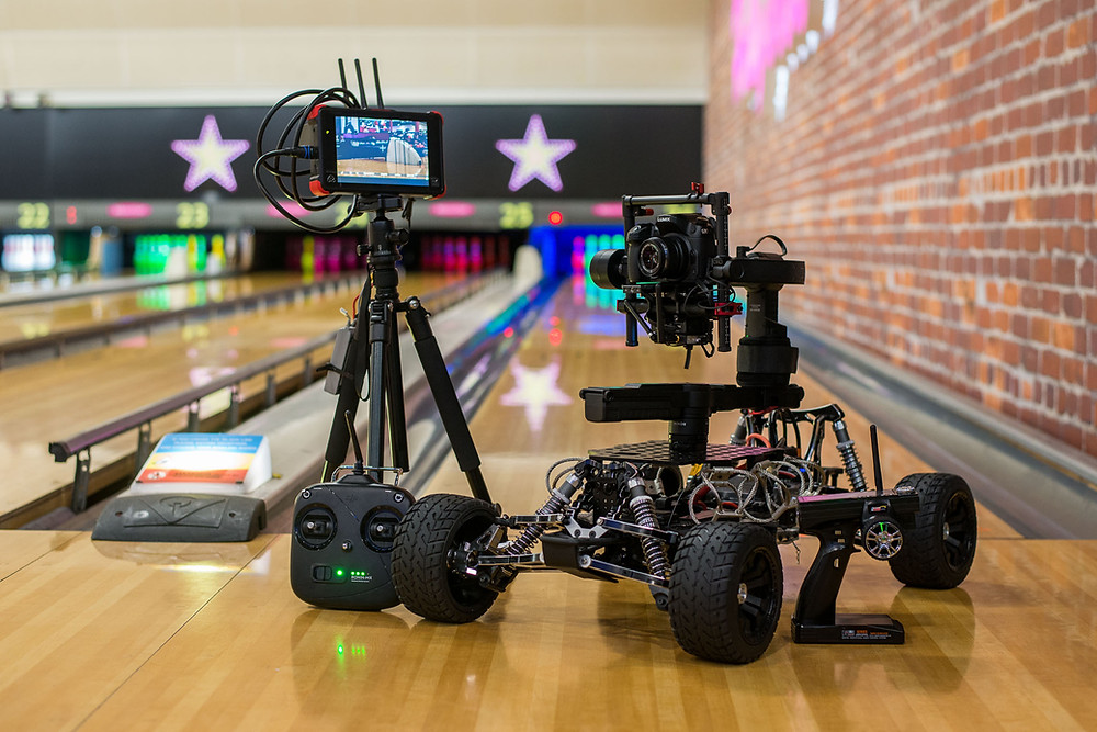 Freefly tero rc buggy cam film kit infant of bowling alley