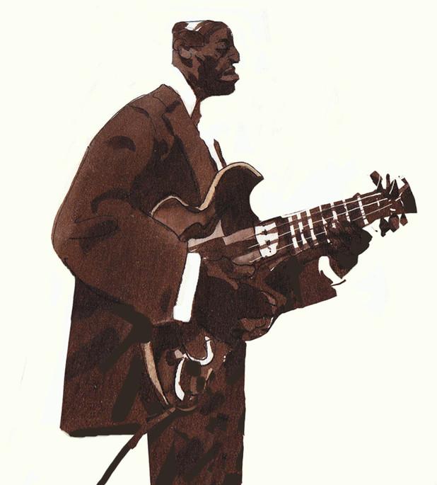 Blues player.