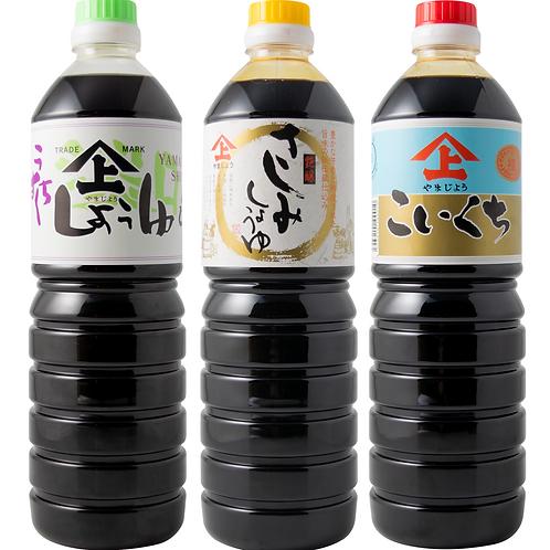 徳山みそ・しょうゆ醸造場 3種の醤油3個セット