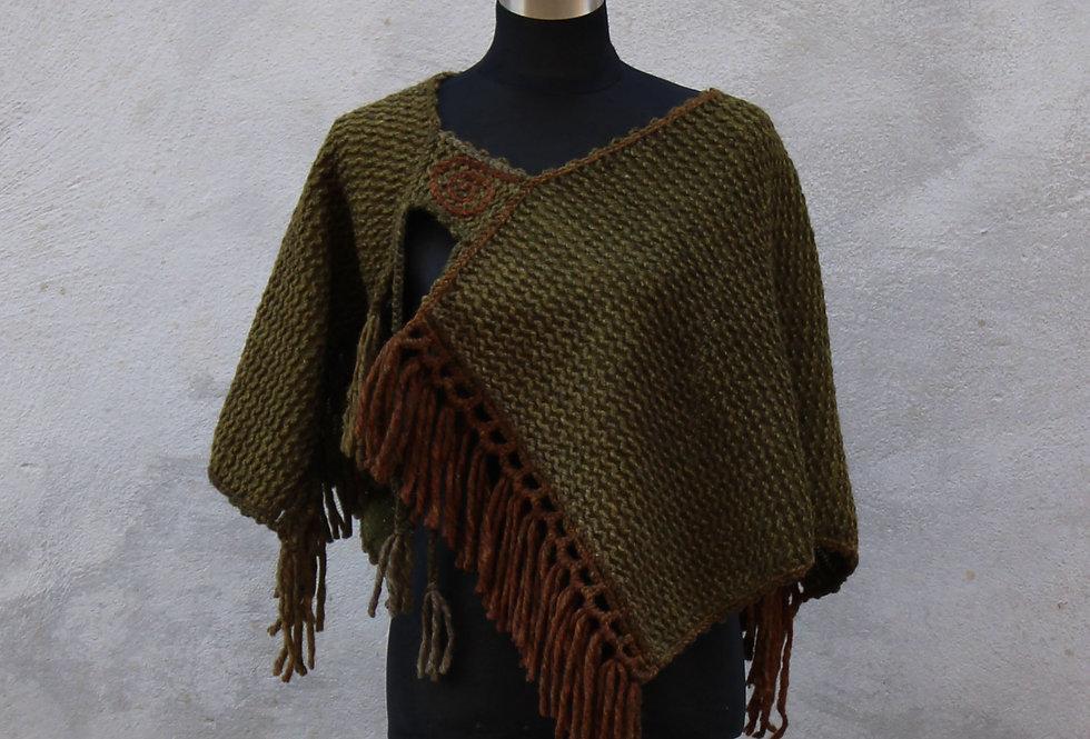 Knitted spellbinder saddleback poncho