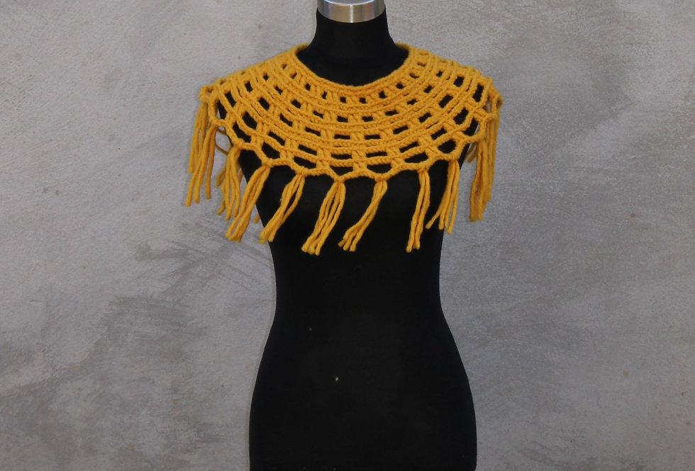 Ochre Sampo knit lace collar