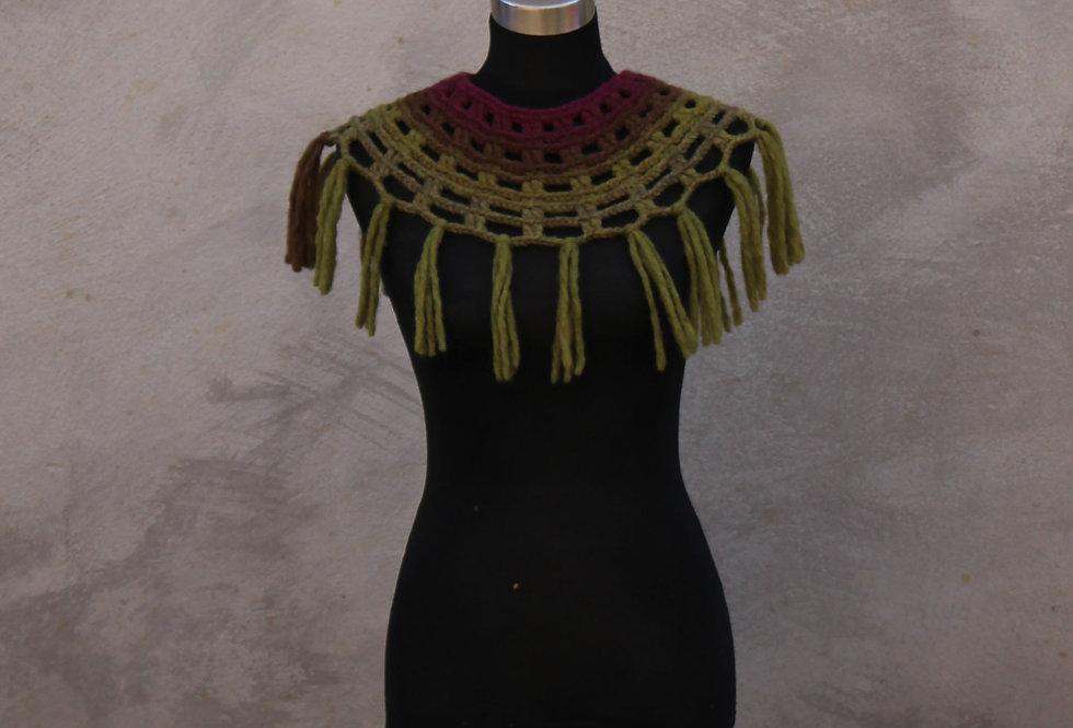 Plum tree coloured Sampo knit lace collar