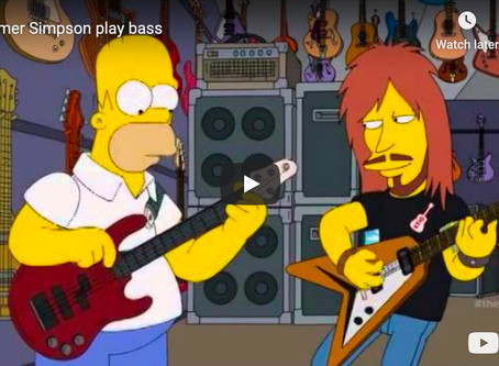 Homer Simpson Plays Bass