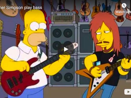 Homer Simpson Plays Bass