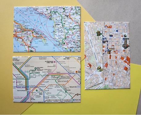 Sobres mapas, pack x 3 / Paperfest