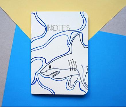 Cuaderno ilustrado a mano tiburones / Paperfest
