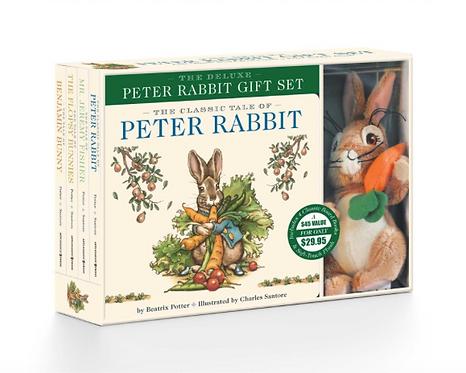 Peter Rabbit Deluxe Gift Set (4 books & toy) / Potter y Santore