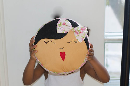Caramel Doll Face Cushion