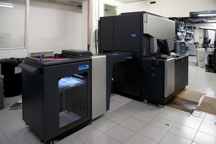 Digital press printing in printshop.jpg Digital press printing is the reproduction of digital images