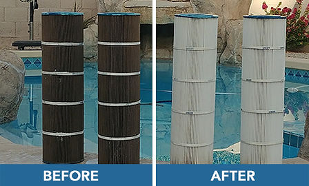 gilbert pool + filter cleaning
