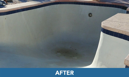 beautiful clean pool after acid washing