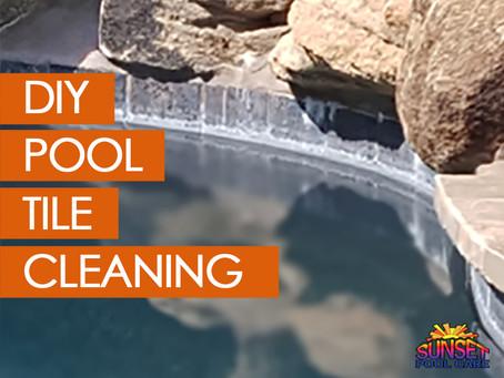 DIY Pool Tile Cleaning