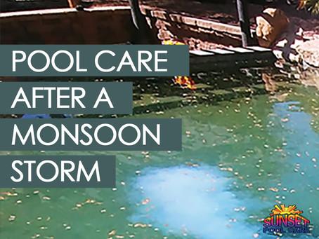 Monsoon Storm Pool Care