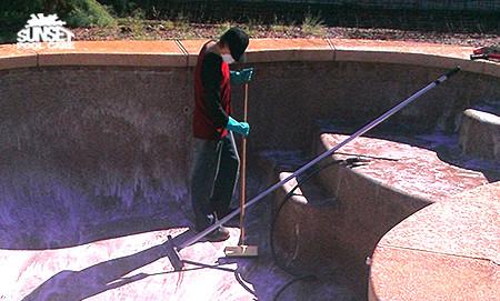 Sunset Pool Care - Acid Washing Pool