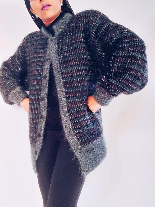 Mohair Cardigan Sweater