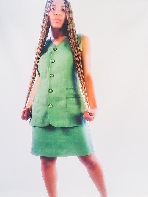 Mint Linen Dress