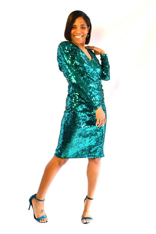 Oleg Cassini Sequin Dress