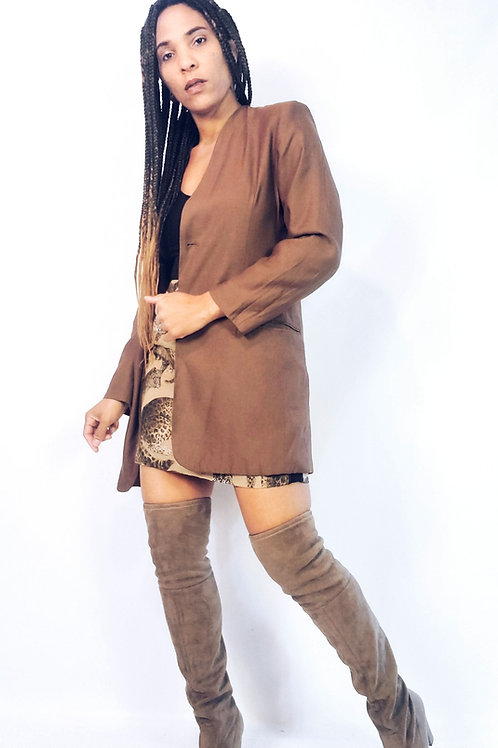 Brown Longline Blazer
