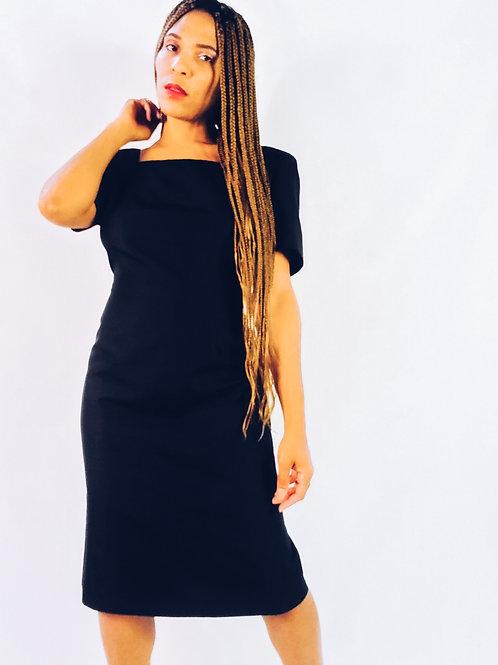Oleg Cassini Silk Black Dress
