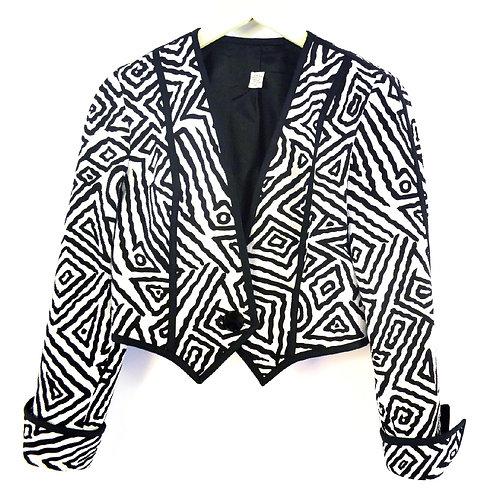 Geometric Crop Jacket