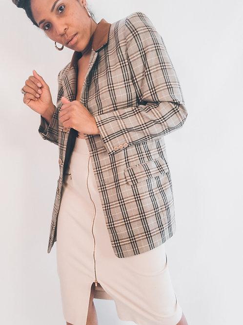 Liz Claiborne Plaid Jacket