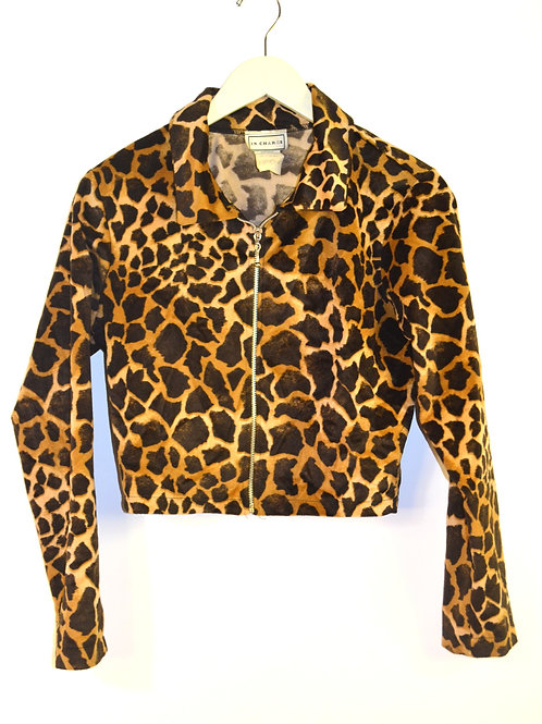 Animal Print Crop Jacket