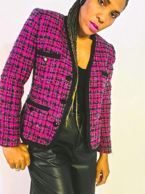 Raspberry Tweed Jacket