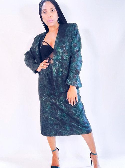 Floral Skirt Suit