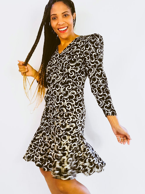 Silk Swirl Dress