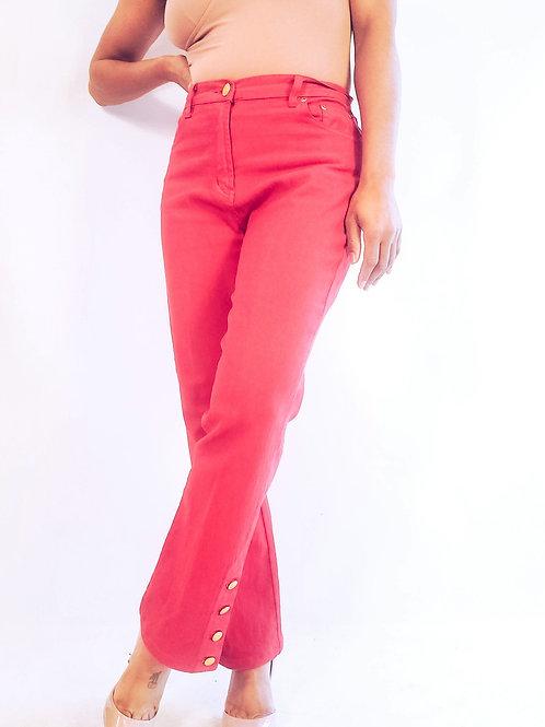 Button Accent Jeans