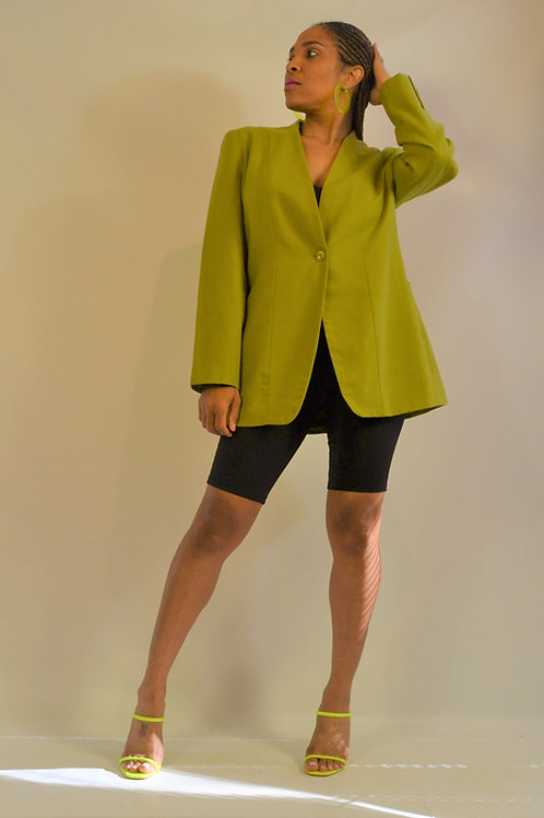 Lime Wool Blazer