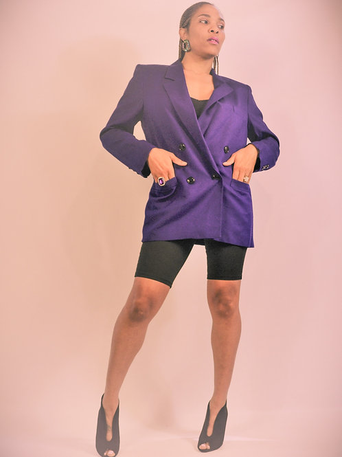 Purple Wool Blazer