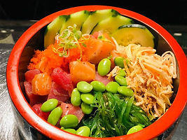 New House Combo Poke.jpe Fresh Salmon, F