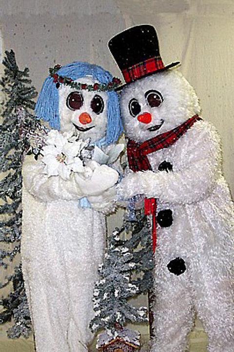 Crystal and Frosty the Snowman
