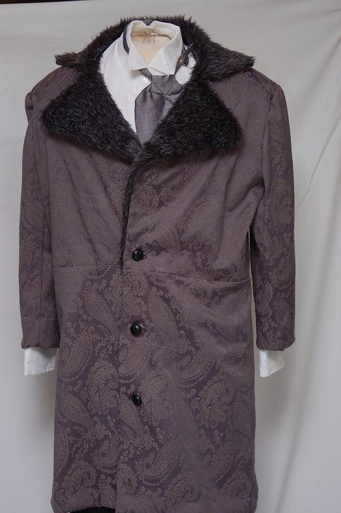 Grey Frock Coat with Fur