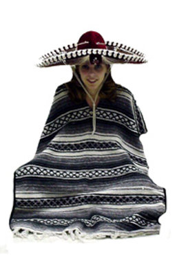 Mexican Poncho and Sombrero