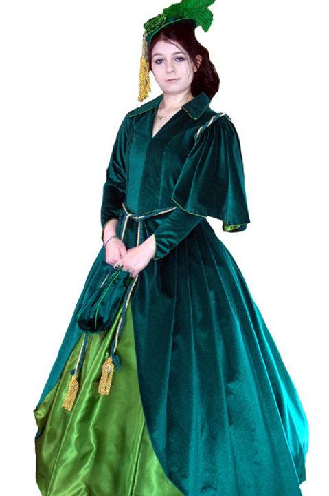 Scarlet's  1860's Curtain Dress
