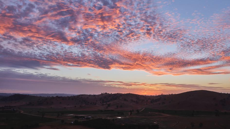 Sunset Sky, Kimo Estate, Gundagai, NSW