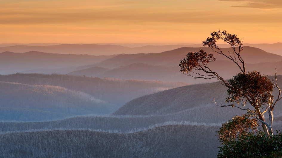 Afternoon Pastels, Alpine National Park, Victoria