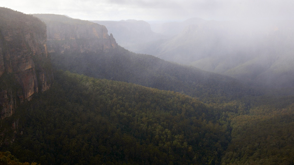 Snow Showers in the Grose, Blue Mountains National Park, NSW
