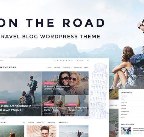 25+ Awesome WordPress Templates for Travel Blogs