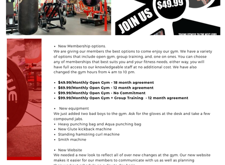 Newsletter: What's New @ The Compound (Membership Options, Equipment, Classes)