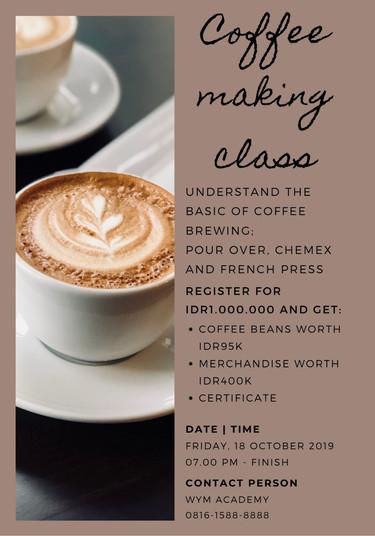 Coffee Making Class (Umum)