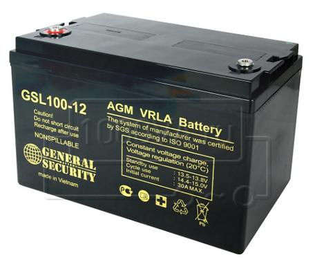 AGM  GENERAL SECURITY GSL 12100 12V/100Ач